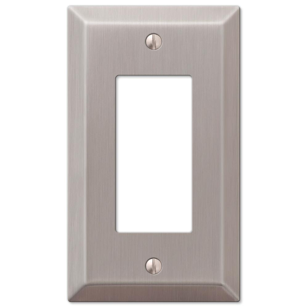 Amerelle Century 1 Decora Wall Plate Brushed Nickel