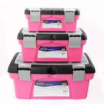 10 in., 12.5 in. and 16 in. Tool Box in Pink (3-Components)