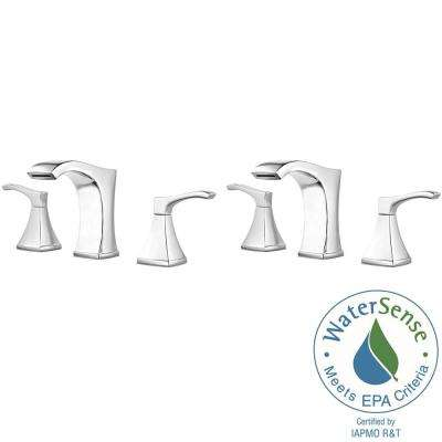 Venturi 8 in. Centerset 2-Handle Bathroom Faucet in Polished Chrome - (2-Pack Combo)
