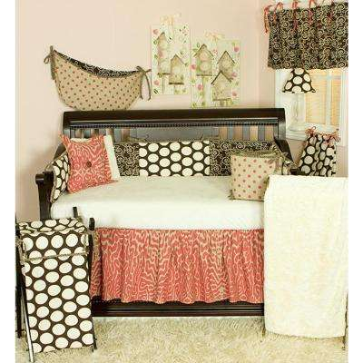 Raspberry Dot Neutral Dots 4-Piece Crib Bedding Set