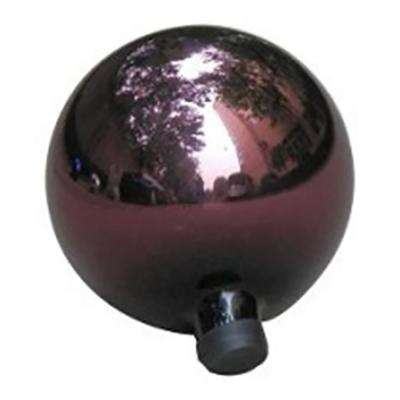 10 in. Plum Purple Glass Outdoor Patio Garden Gazing Ball