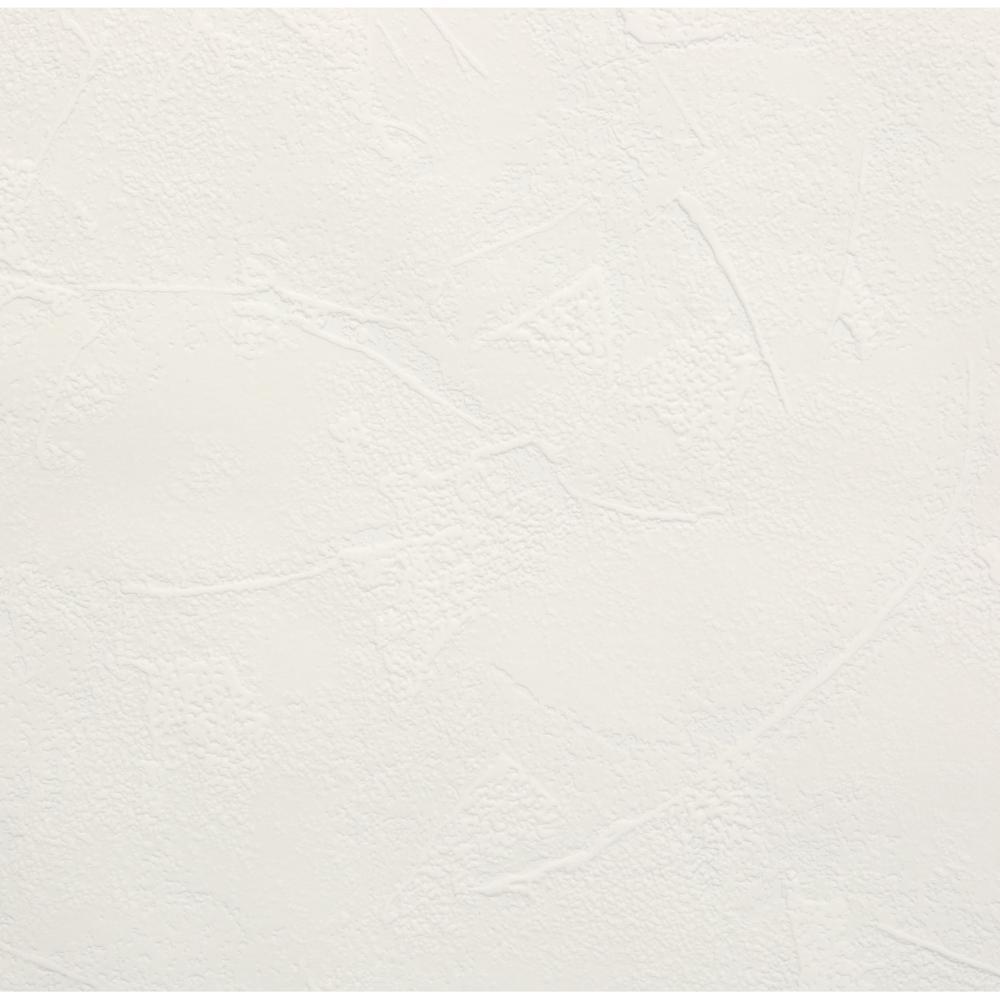 Plaster White Vinyl Peelable Wallpaper (Covers 56 sq. ft.)