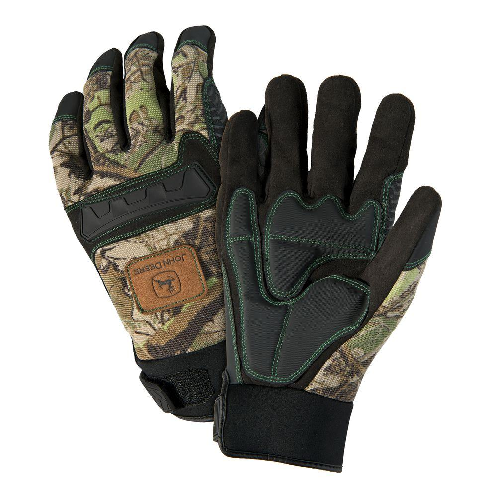 John Deere Anti-vibration Large Knuckle Gloves-JD00011 L - The Home Depot 6732ddb00180