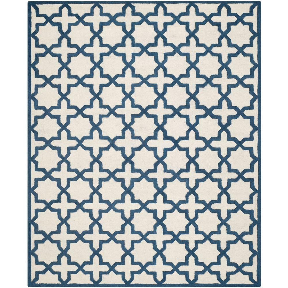 Cambridge Ivory/Navy 8 ft. x 10 ft. Area Rug