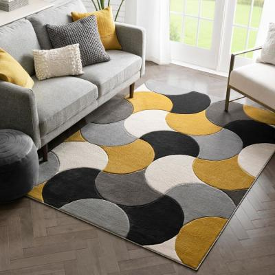 Geometric Yellow Area Rugs Rugs The Home Depot