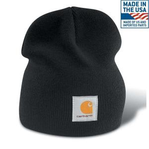 de1b61d8c19 Carhartt Men s OFA Navy Acrylic Hat Headwear-A205-NVY - The Home Depot