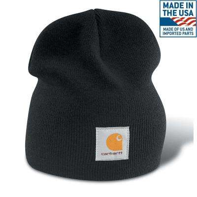 Men's OFA Black Acrylic Hat Headwear