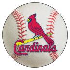 MLB St. Louis Cardinals Photorealistic 27 in. Round Baseball Mat