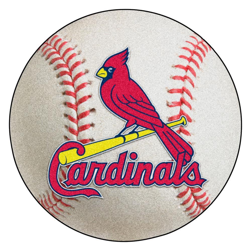 MLB St. Louis Cardinals Photorealistic 27 in. Round Baseball Mat