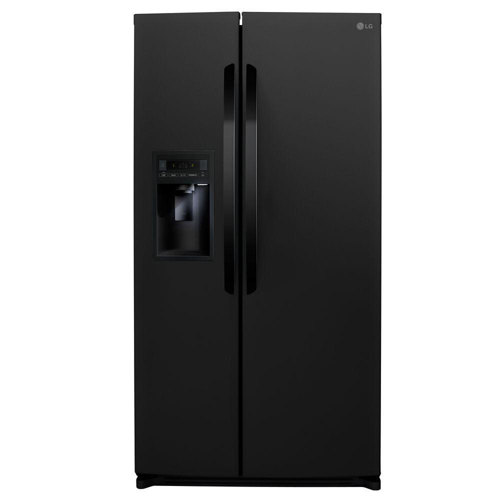 LG Electronics 26.5 cu. ft. Side by Side Refrigerator in Black