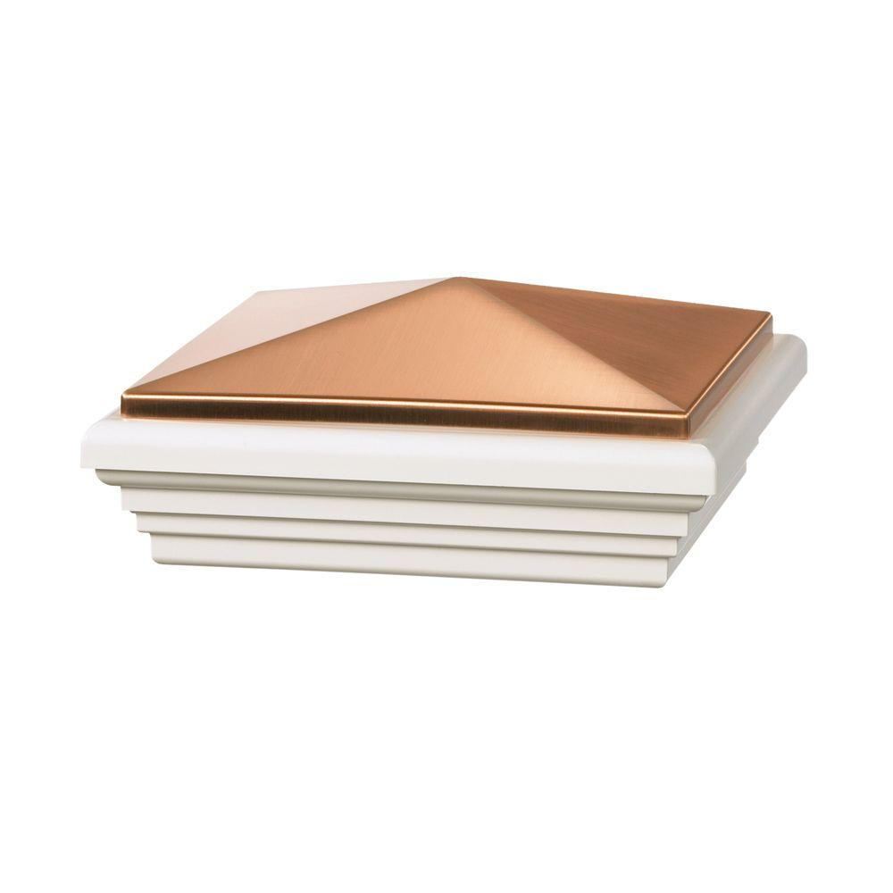 Veranda 5 in. x 5 in. Copper Vinyl Stylepoint Fence Post Cap