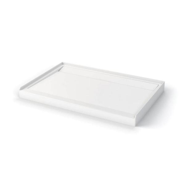 Distinct 32 in. x 48 in. Double Threshold Shower Base in White