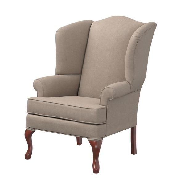 Erin Beige Wing Back Chair