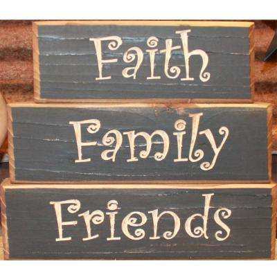 Black Pine Wood Sign (set of 3)