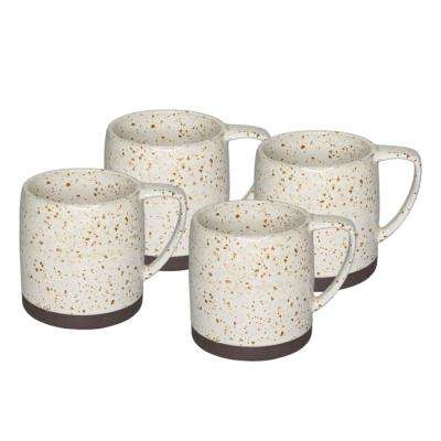 Nester 4-Piece White Mugs