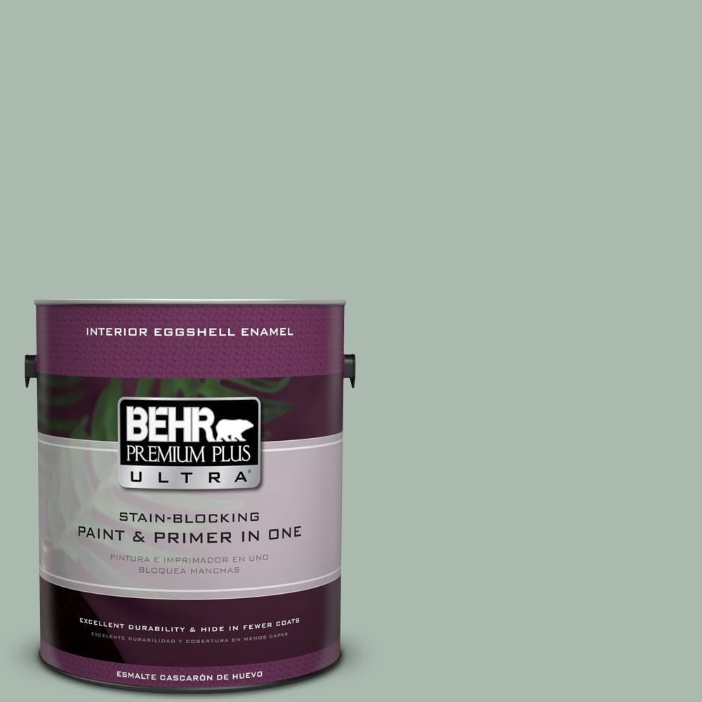 BEHR Premium Plus Ultra 1 gal. #PPU11-14 Zen Eggshell Enamel Interior Paint and Primer in One