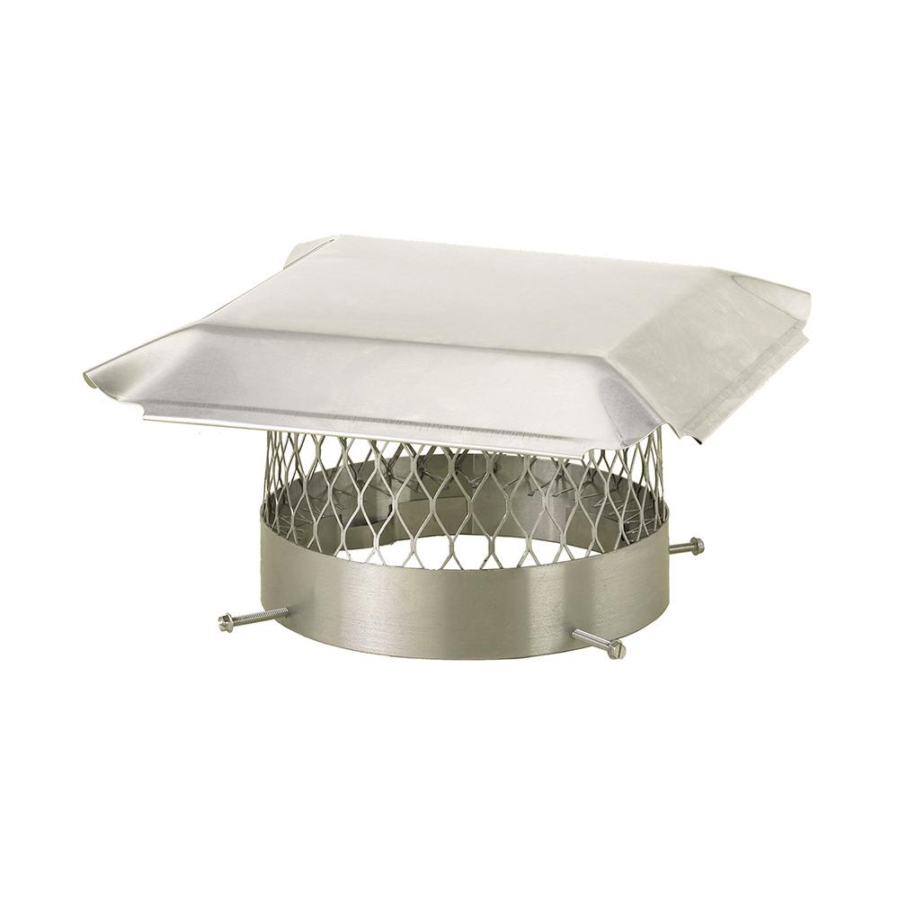 16 in. Round Bolt-On Single Flue Chimney Cap in Stainless Steel
