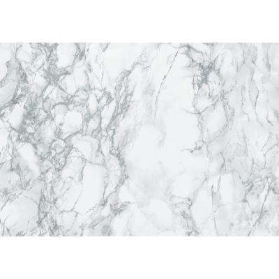 Marble Grey 26 in. x 78 in. Home Decor Self Adhesive Film