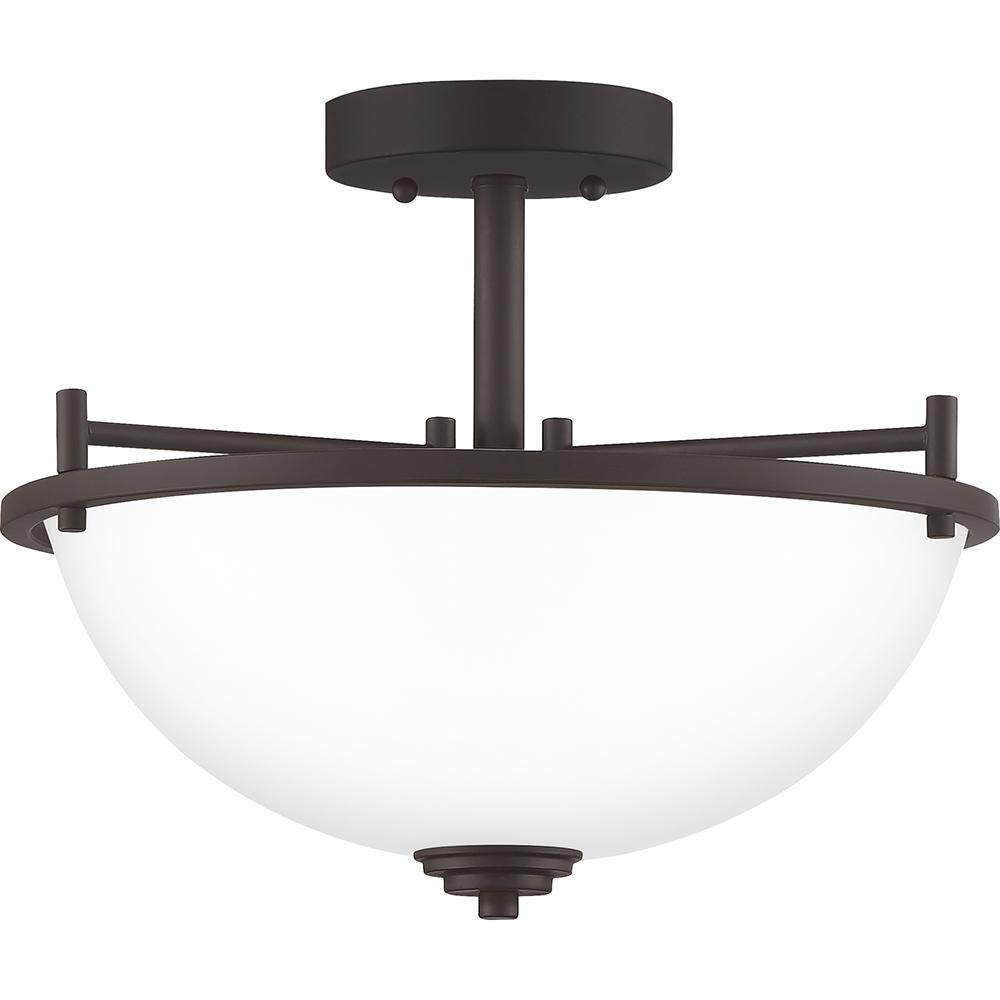 Foley 3-Light Old Bronze Semi-Flush Mount
