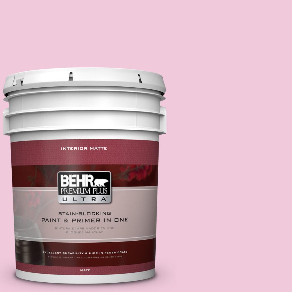 BEHR Premium Plus Ultra 5 gal. #P130-1 Piggy Bank Matte Interior Paint and Primer in One