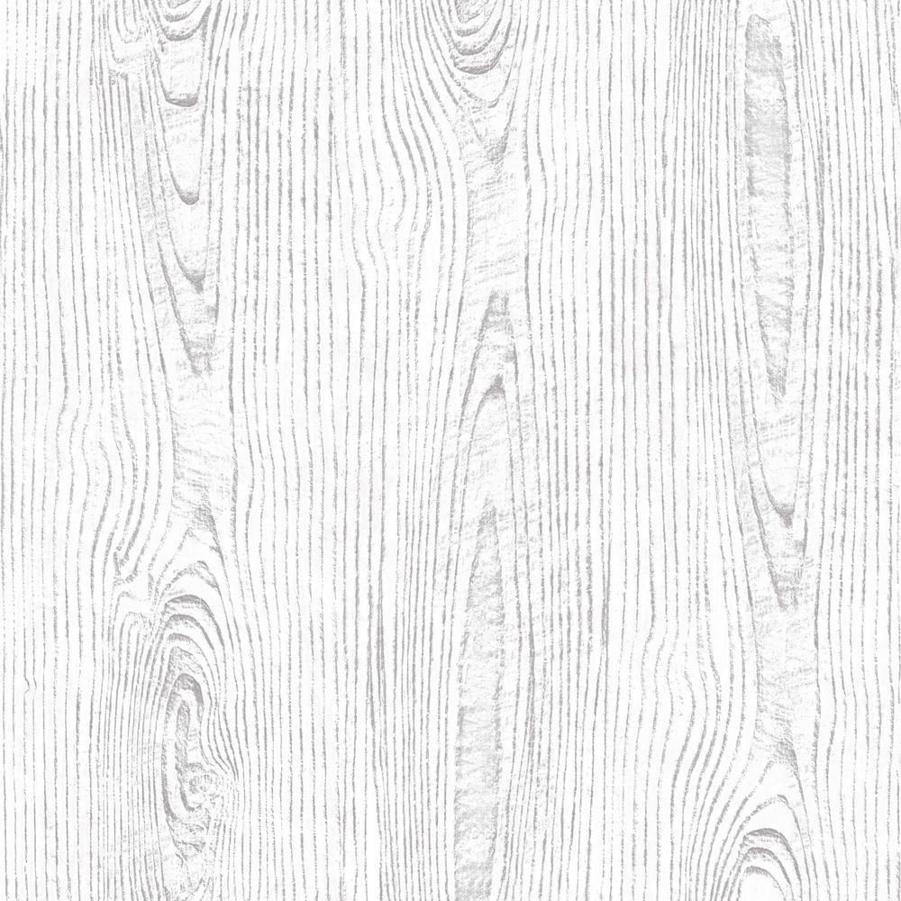 White Wood Grain Wallpaper