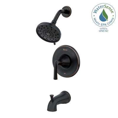 Ladera Single-Handle 3-Spray Tub and Shower Faucet in Tuscan Bronze (Valve Included)