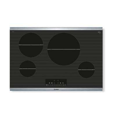800 Series 30 in. Induction Cooktop in Black with Stainless Steel Frame and 4 SpeedBoost Elements