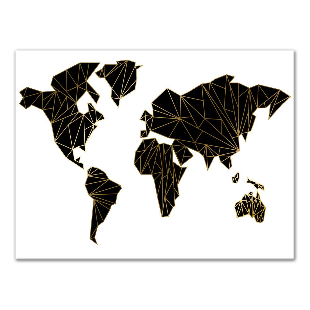 Designs Direct 30 In X 40 In Geometric World Map Printed