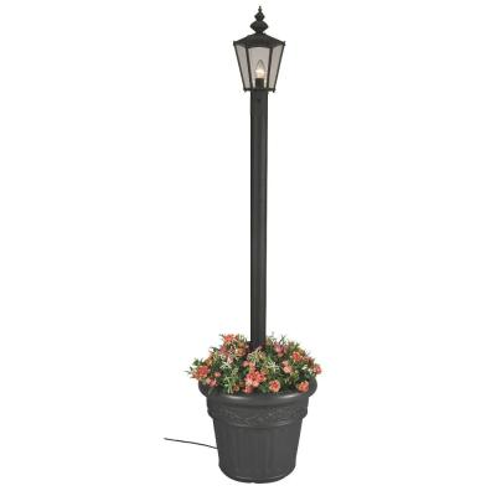 Cambridge Single Black Lantern Planter