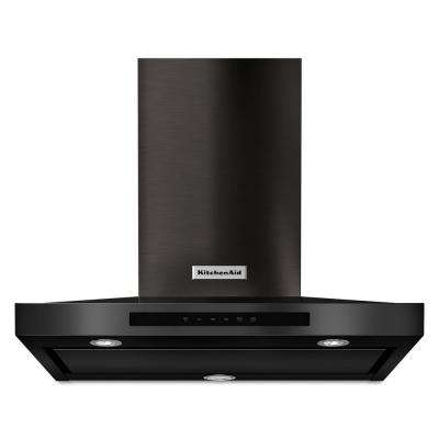 30 in. 600 CFM Convertible Wall Mount Range Hood in PrintShield Black Stainless