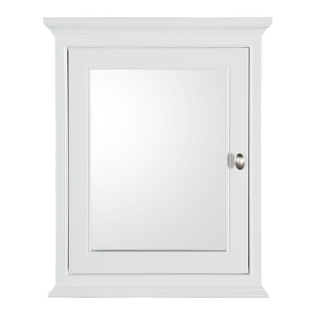 Hayward 23-1/2 in. W x 29 in. H x 7-1/2 in. D Framed Surface-Mount Bathroom Medicine Cabinet in White
