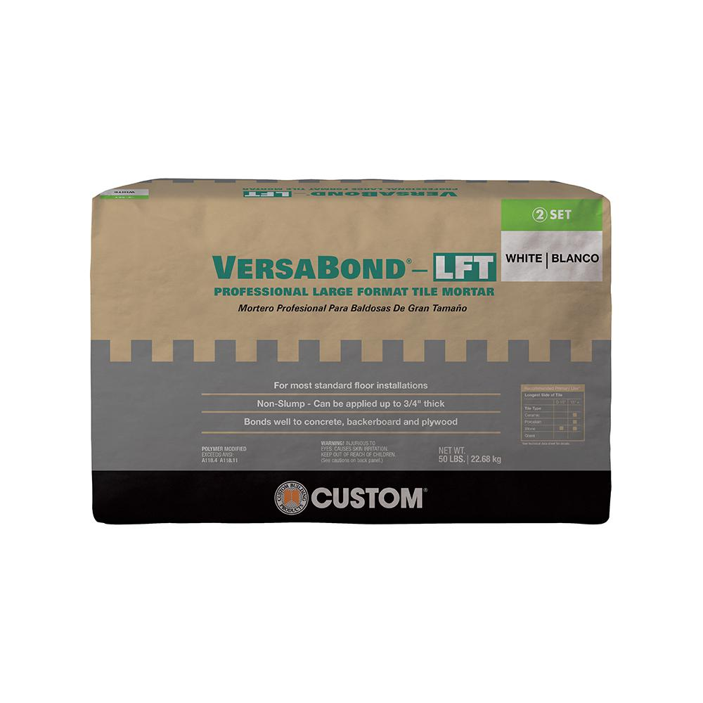Custom Building Products VersaBond-LFT 50 lbs. White Fortified Medium Bed Mortar