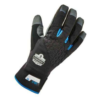 817 Medium Black Reinforced Winter Work Gloves