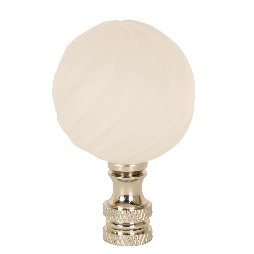 Mario Industries Frosted Glass Swirled Ball Lamp Finial-DISCONTINUED