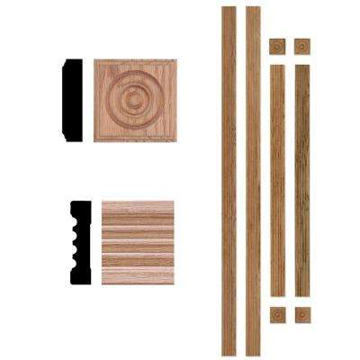 5001 3/4 in. x 3 in. x 72 in. Red Oak Wood Window Casing Set (Up to 4 ft. x 6 ft. Opening)