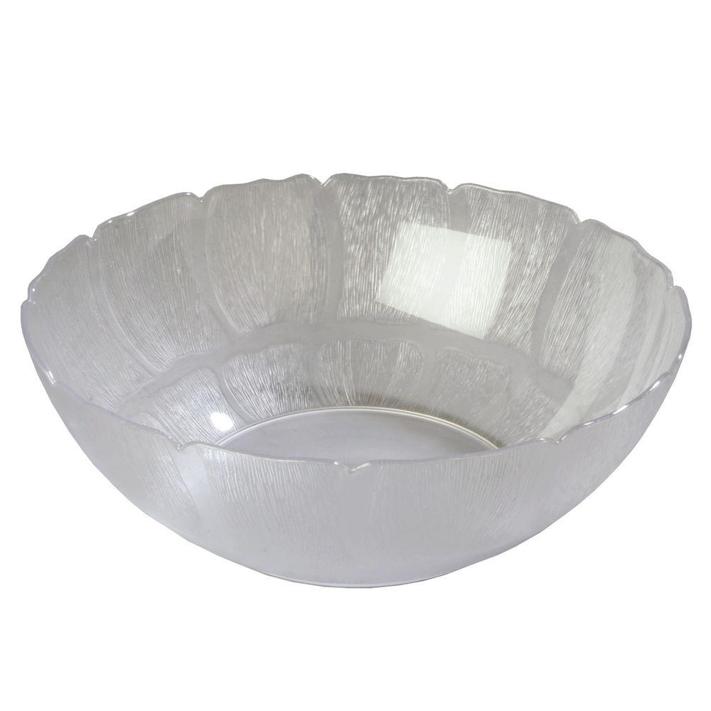 15 in. Diameter Polycarbonate Bowl Petal Mist in Clear (Case of
