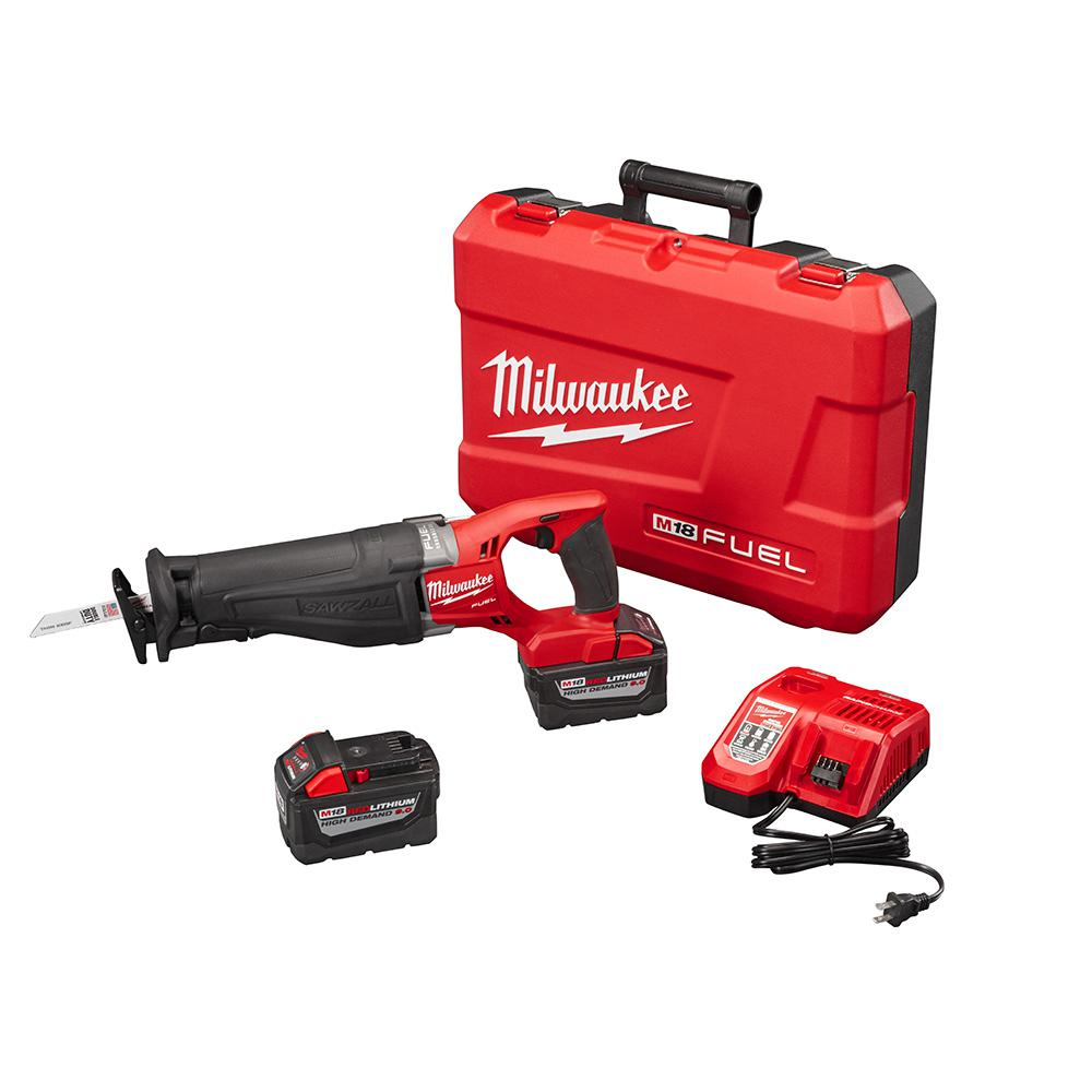 2 Milwaukee M18 FUEL 18V Li-Ion Sawzall Recip Saw 2720-20 6.0AH Batteries