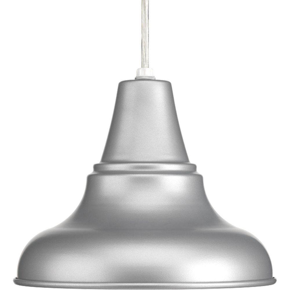 District Collection 1-Light Metallic Gray Hanging Lantern
