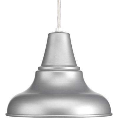 District Collection 1-Light Metallic Gray Hanging Lantern