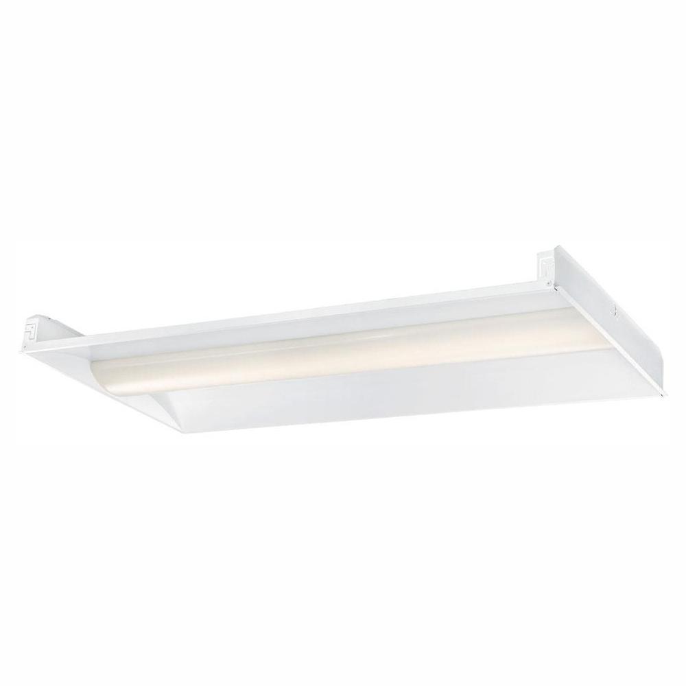 Envirolite 2 ft x 4 ft 128 watt equivalent white volumetric integrated led commercial grid ceiling troffer