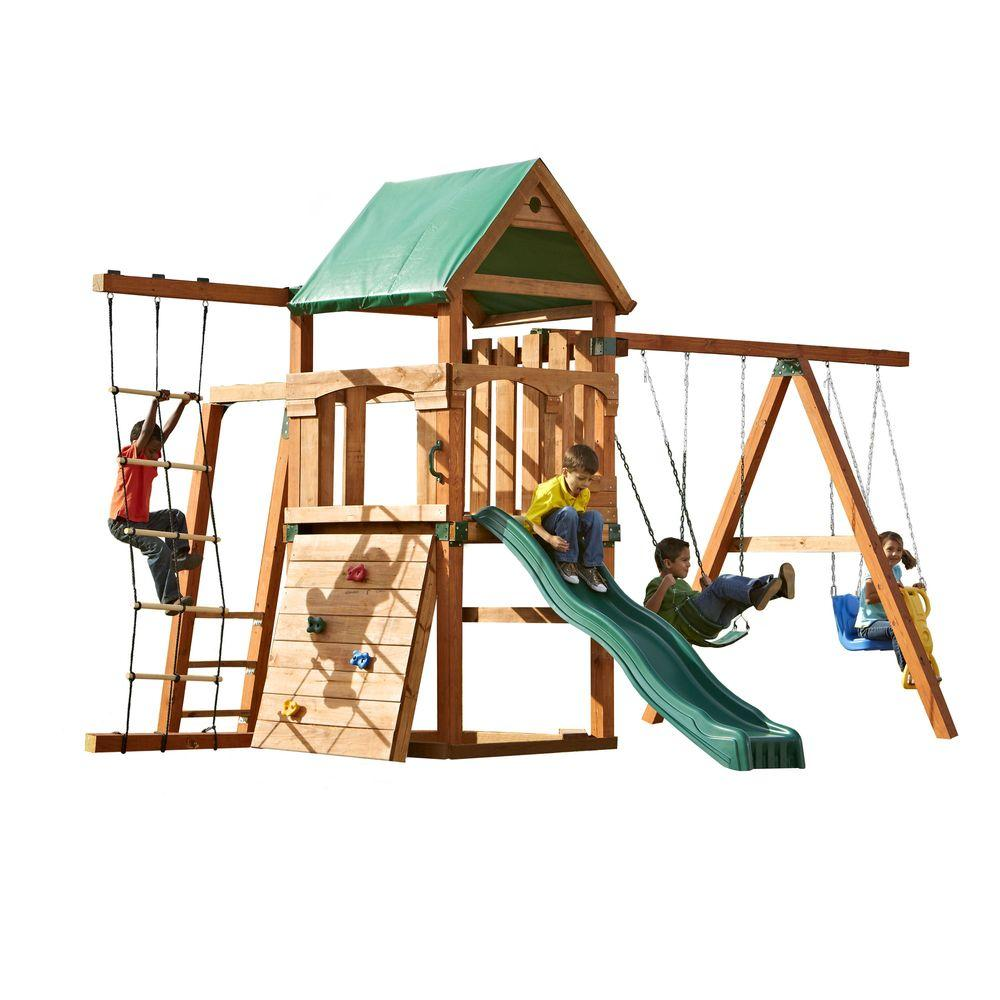 swing n slide playsets bighorn play set add 4x4 u0027s and slide pb