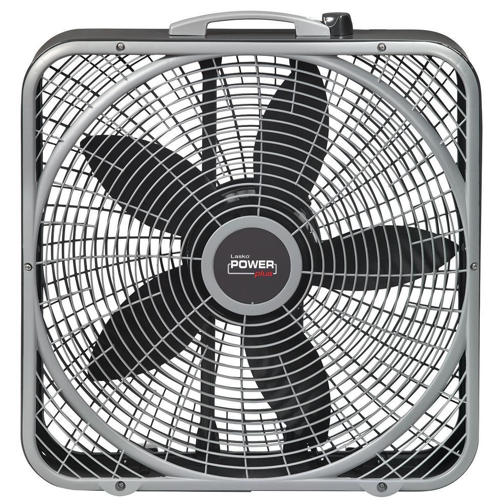 Lasko 20 in  3-Speed Box Fan-3733 - The Home Depot