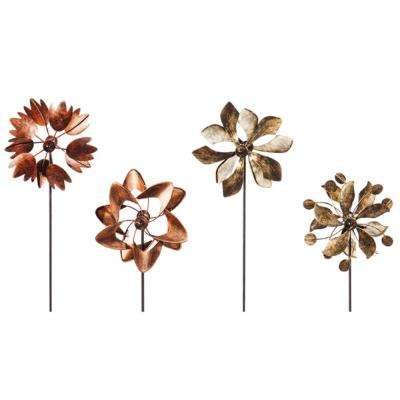 18 in. Brushed Metallics Mini Kinetic Wind Spinners (12-Pieces)