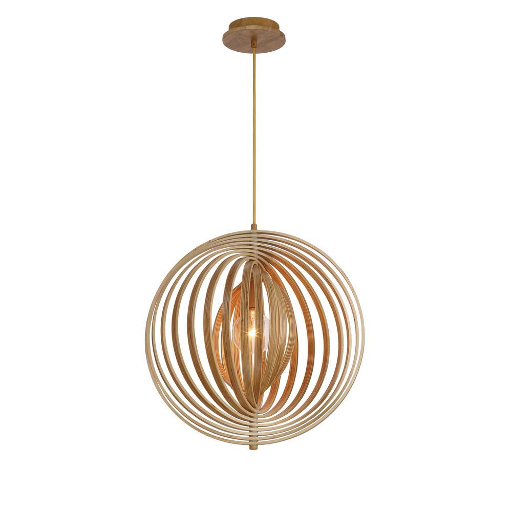 Abruzzo Collection 1-Light Medium Wood Pendant