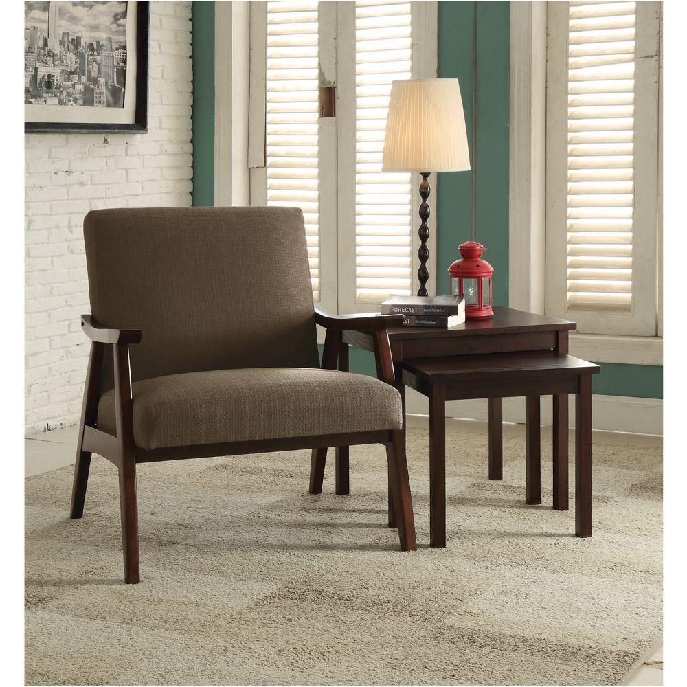 Davis Klein Otter Fabric Arm Chair