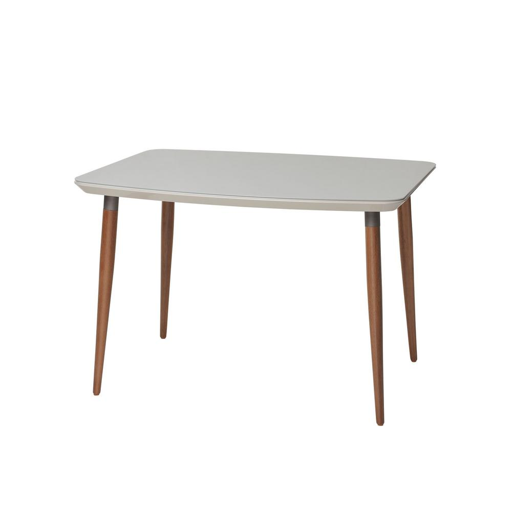 Monarch Specialties White Hollow Core Dining Table I 1056