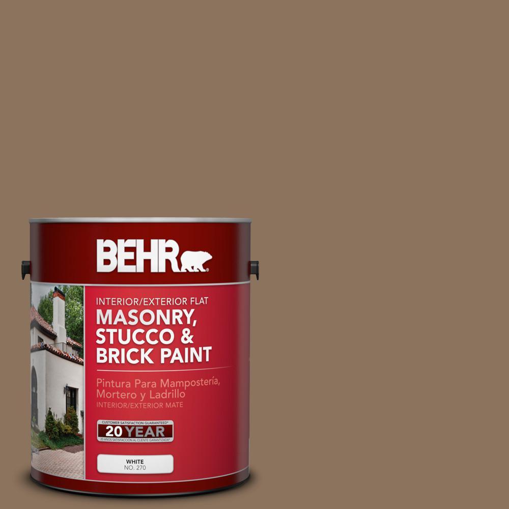 1 gal. #N260-6 Outdoor Cafe Flat Elastomeric Masonry, Stucco and Brick Interior/Exterior Paint
