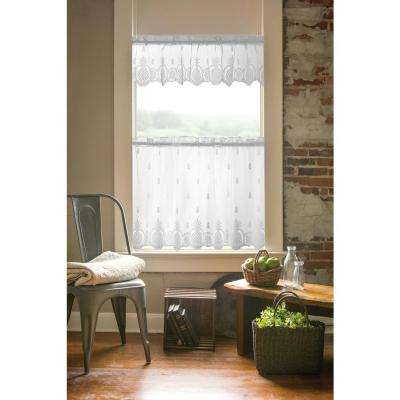 Welcome 60 in. L Polyester Valance in White