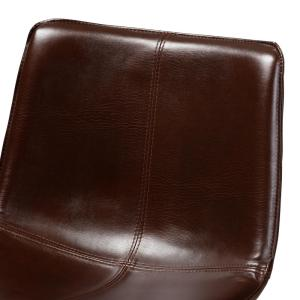 Wondrous Baxton Studio Carvell 24 In Dark Brown And Black Pub Stool Ncnpc Chair Design For Home Ncnpcorg