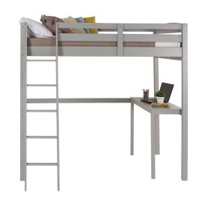 Camaflexi Concord Grey Full Size High Loft Bed with Desk ...